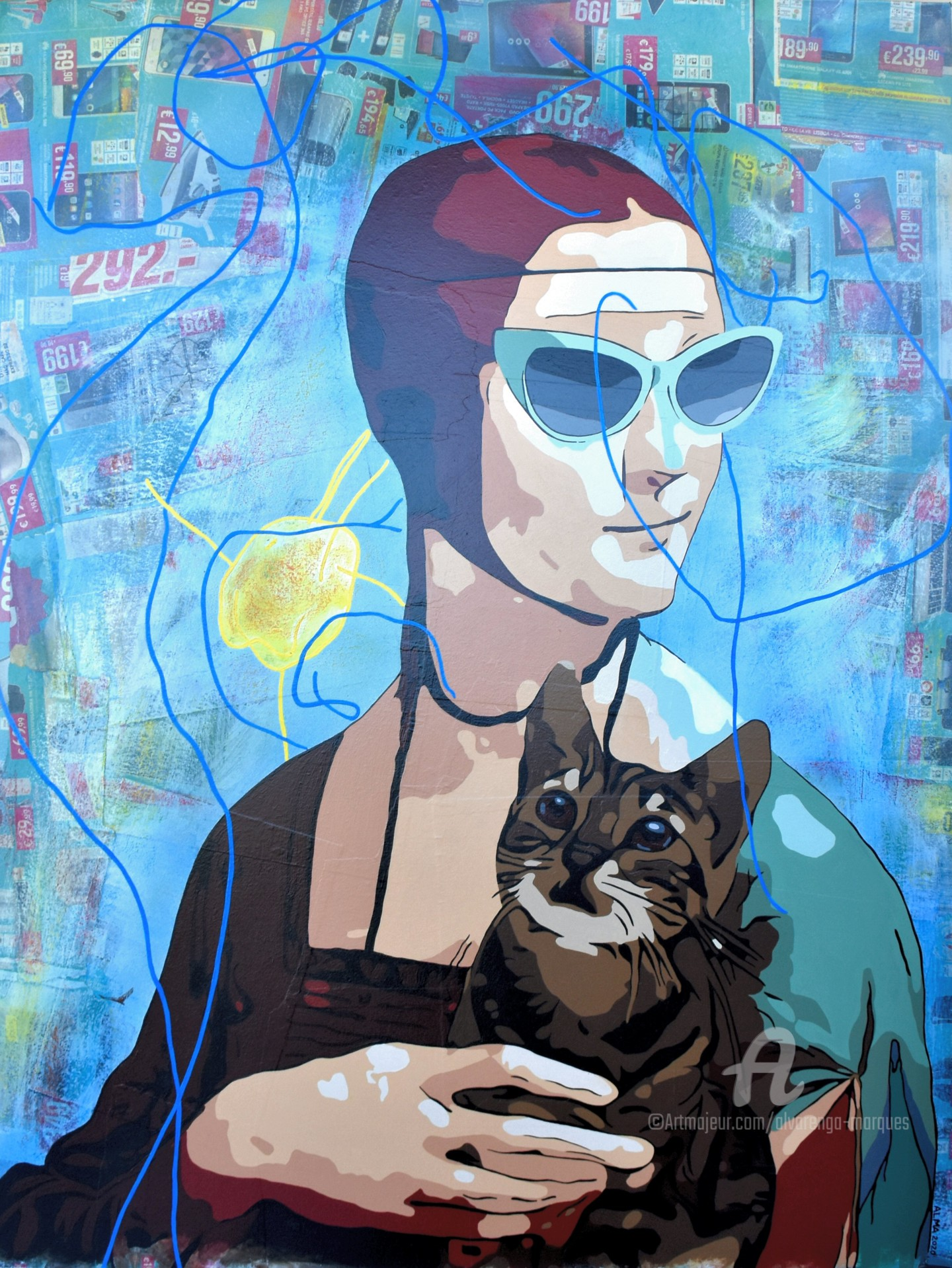 Alvarenga Marques - Lady with Kitten